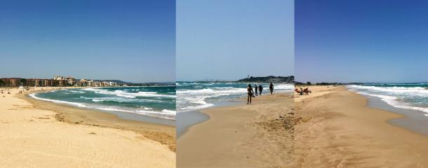 The three beaches of Torredembarra, Tarragona - Kinto